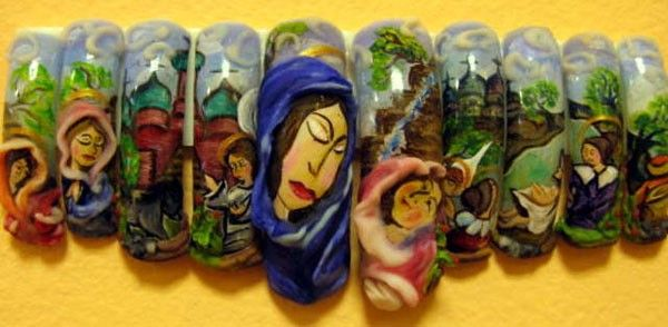 """Creative Works from the International Festival Nail """"Golden Hands of Baltics 2009"""" (29 pics)"""