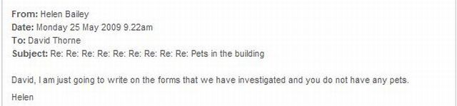 Funny Emails about 'Pets in the building' (6 pics)