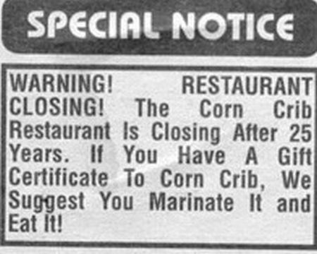 Hilarious Menus and Restaurants Names (55 pics)