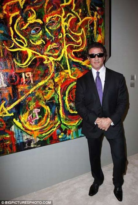 Stallone Is a Brand New Artist! (4 pics)