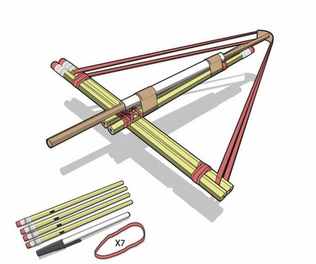How to Make a Pencil Crossbow (8 pics)