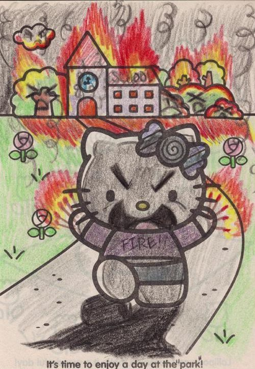 Hello kitty pyromaniac coloring book source
