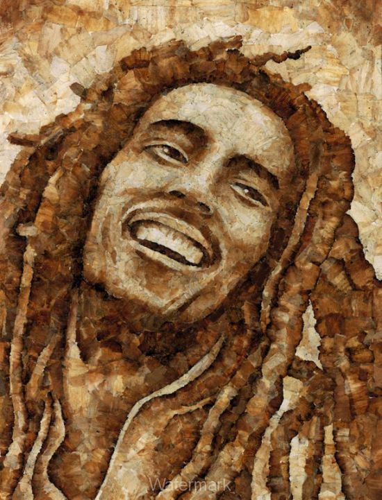 Portraits Made with Weed Joint Butts! (15 pics)