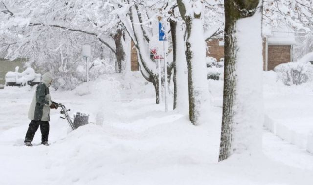 Snowstorm in the U.S. (22 pics)