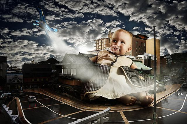 Totzilla - Ukrainian charity campaign to promote childhood issues (7 pics)