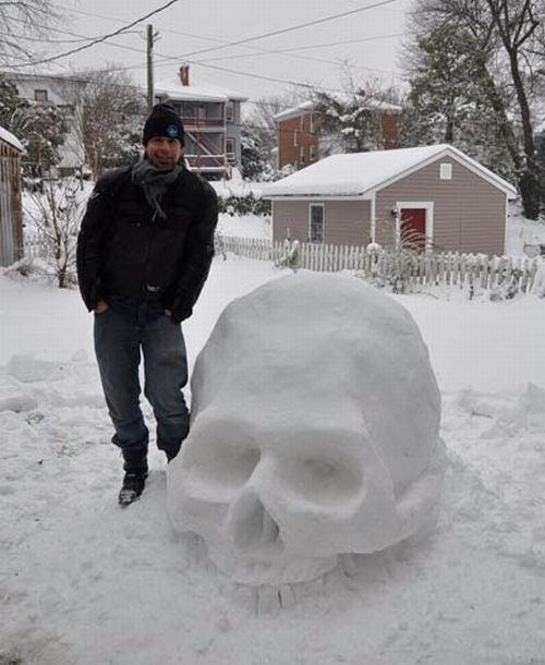 What Can Be Done from Snow (10 pics)