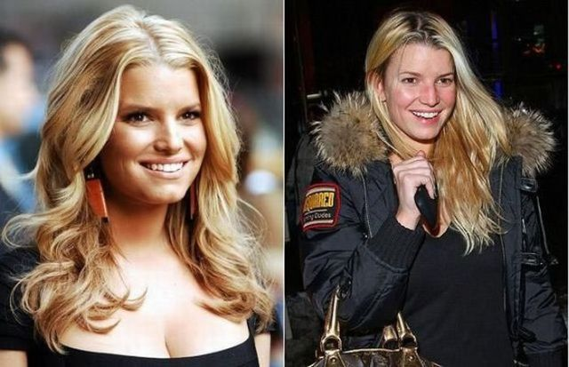 Jessica Simpson without Make-up (9 pics)