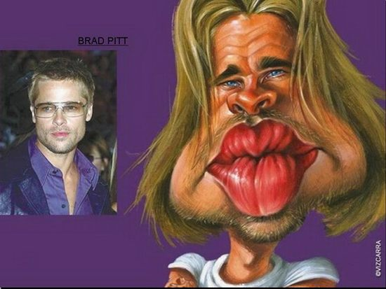 Great Celebrity Caricatures (10 pics)