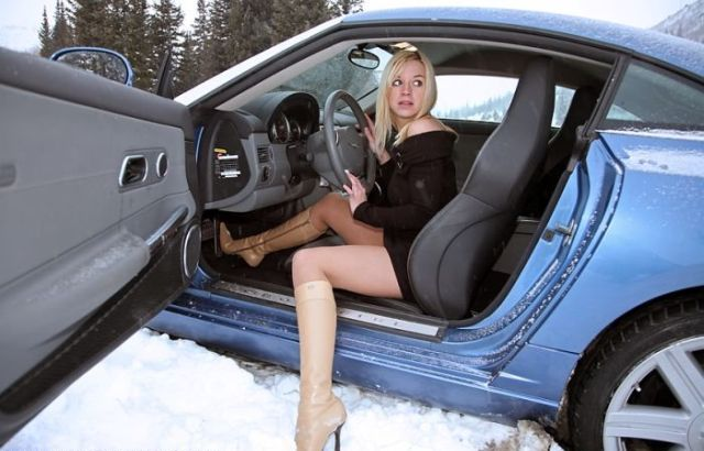 Car short dress driving