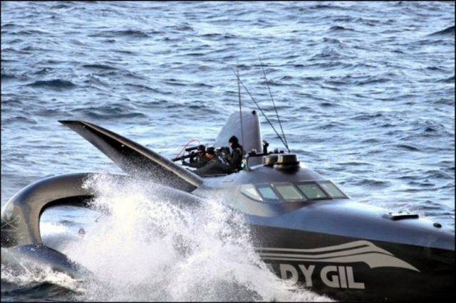 Trimaran Ady Gil Goes Down (15 pics + 2 videos)