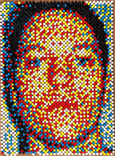 Pin Mosaic Portraits by Eric Daigh (12 pics)