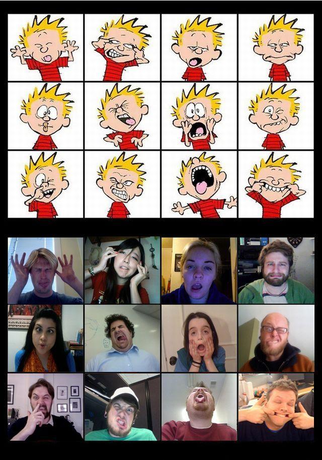 Funny Calvin Faces (4 pics + 1 gif)