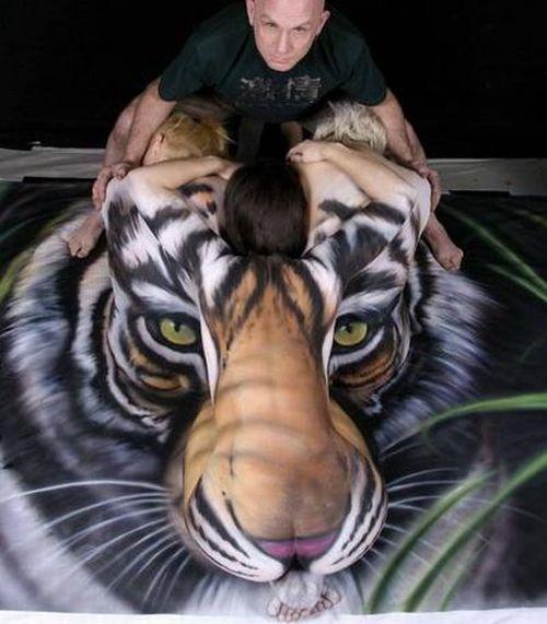 Amazing Tiger Body Art by Craig Tracy (6 pics)