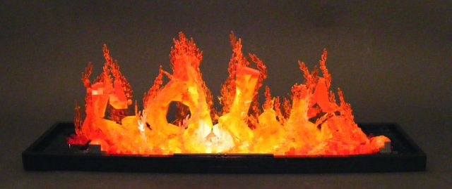 Realistic Fire Made from Lego (9 pics)