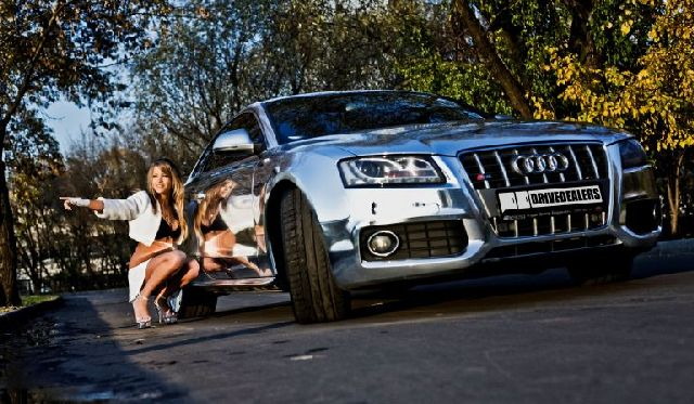 Cool Chrome Audi S5 (8 pics)
