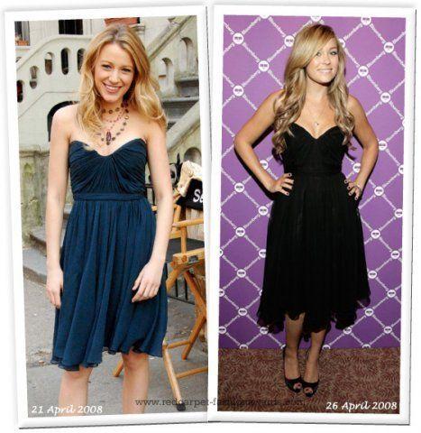 Different Stars Wearing Similar Dresses (76 pics)