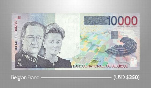 Unique Big Bills from Various Currencies around the World (17 pics)