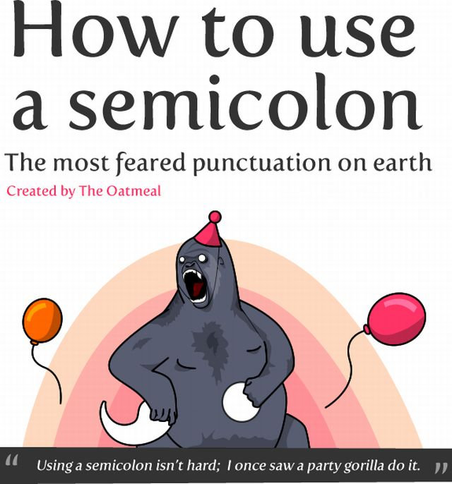 How to Use a Semicolon! (9 pics)