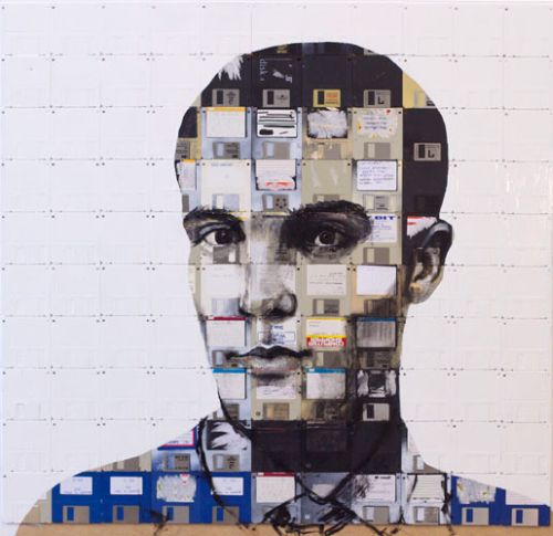 Art with Tapes and Floppy Disks (33 pics)