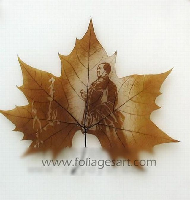 Amazing Artwork in Autumn Leaves (75 pics)