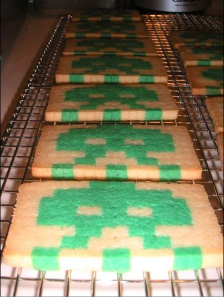 Learn Making Space Invaders Cookies with Fun (13 pics)