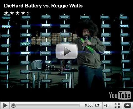 Who has the most Watts, Reggie or Diehard?