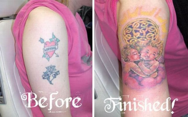 The Art of Covering a Tattoo with Another Tattoo (18 pics)