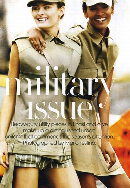 Different Models in a Military Style Photoshoot for American Vogue (12 pics)