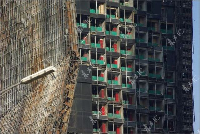 Beijing CCTV Headquarters. One Year Later After the Fire (16 pics)