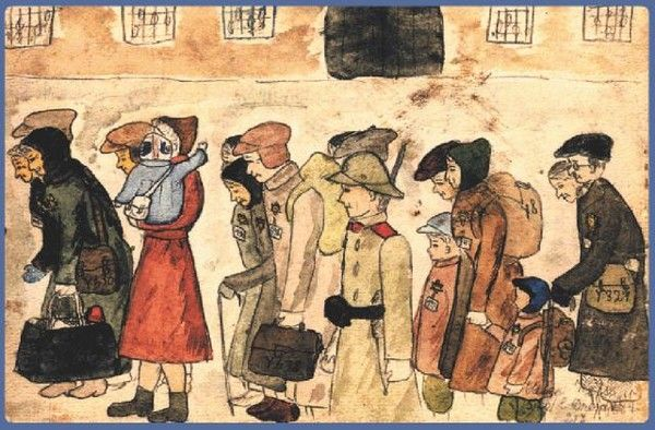 Drawing of People Who Spent Their Childhood in Nazi Concentration Camps (10 pics)
