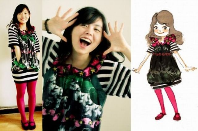 The Girl dresses herself in Her Drawings? (67 pics)