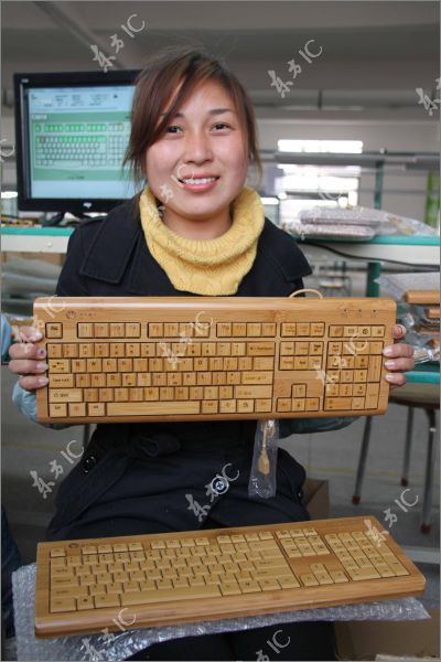 Chinese Bamboo PC Mice and Keyboards (15 pics)