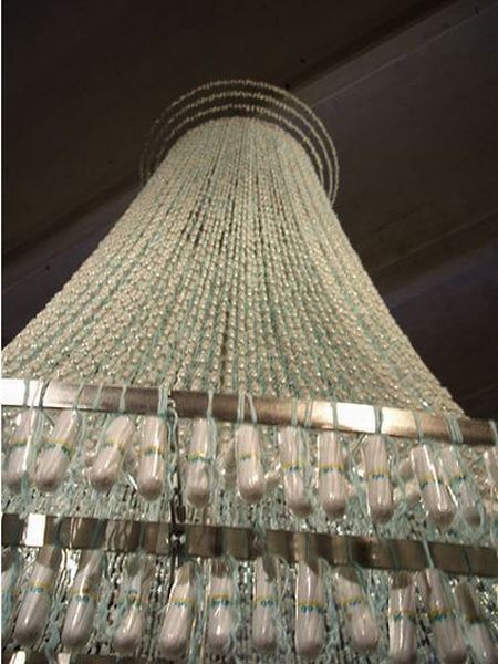 Chandelier from Tampons (7 pics)