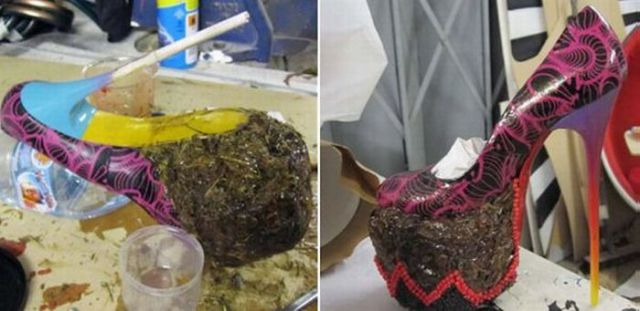 """""""Smelly"""" Shoes From Elephant Dung (9 pics)"""