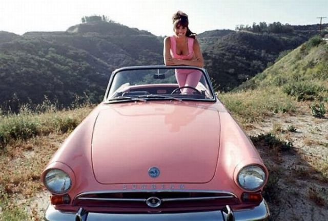 Babes in Vintage Vehicle Ads (20 pics)