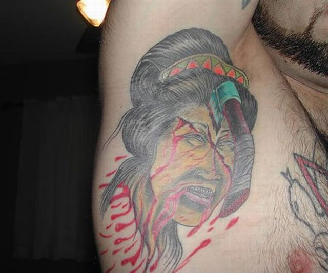 Tattoos in Unusual Places (28 pics)