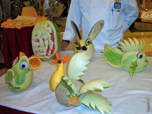 Masterpieces Made from Fruits and Vegetables (26 pics)