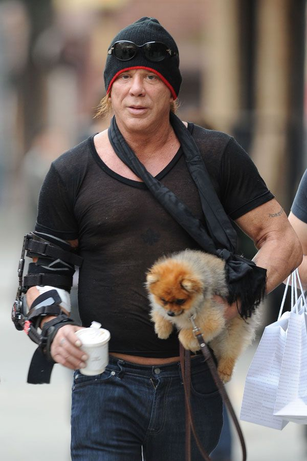 Mickey Rourke Looking ...