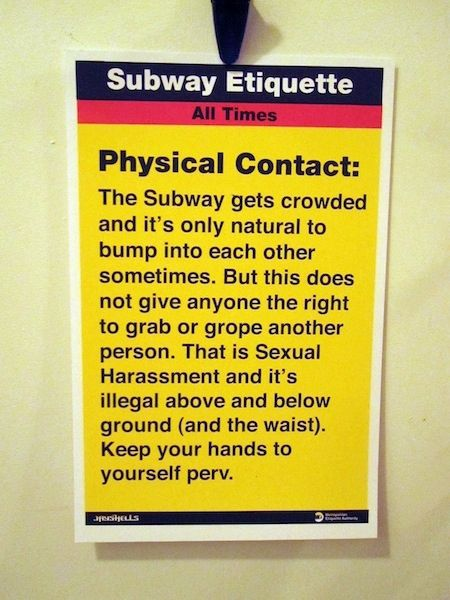 How to Behave in New York Subway (9 pics)