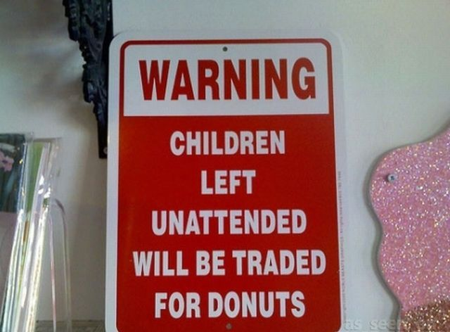Funny Signs about Unattended Kids (26 pics)