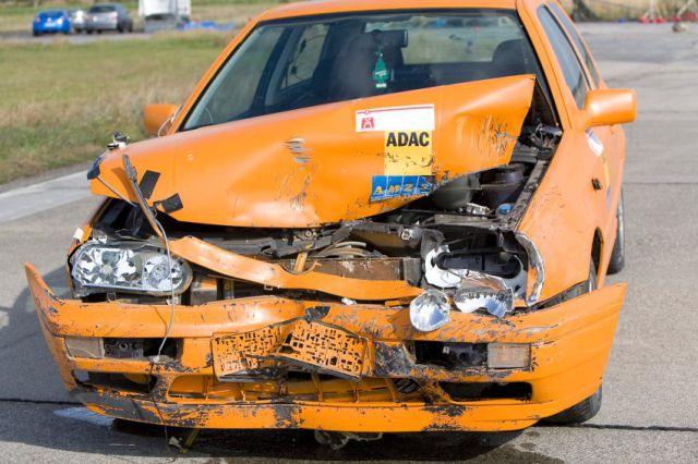 Crash Test: Car vs. Boars (3 pics)
