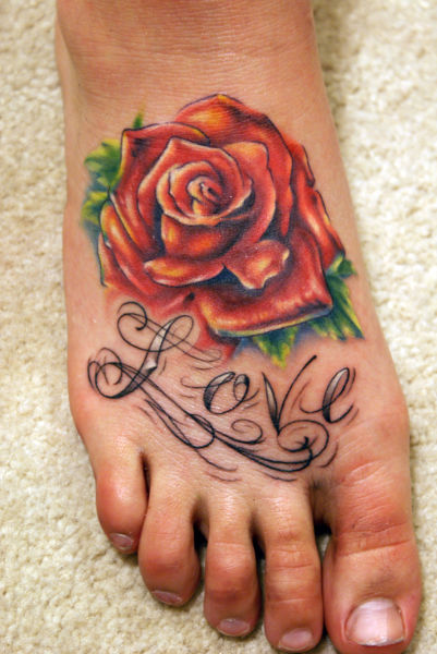 This collection of crazy foot tattoos is pretty cool.