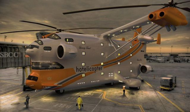 Cool Flying Helicopter-Hotel Design (7 pics)
