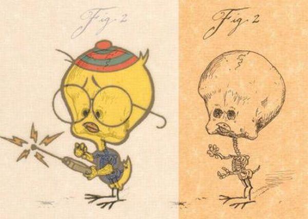 Funny Anatomy of Cartoon Characters (21 pics)