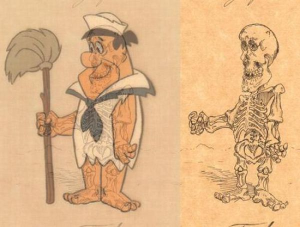 Funny Anatomy of Cartoon Characters (21 pics)