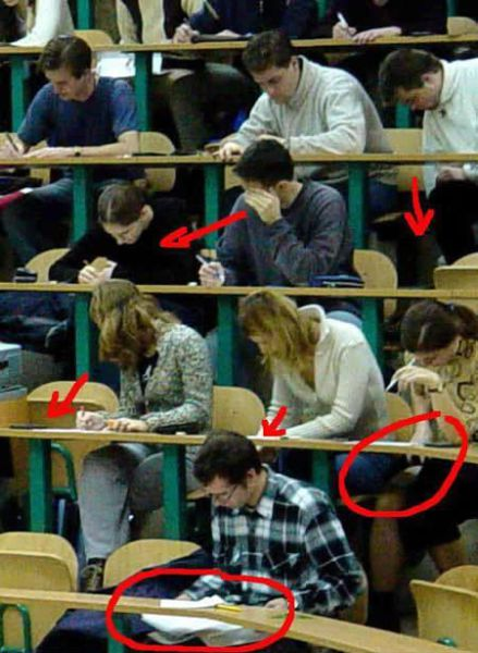 The Easiest Ways to Cheat on Your Test (20 pics)