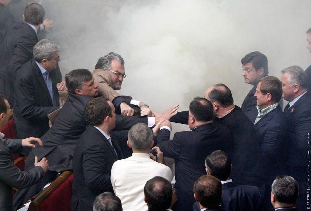 """Fight Club"" at the Ukrainian Parliament (22 pics)"