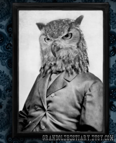 Gentlemen and Ladies with Animal Heads (16 pics)