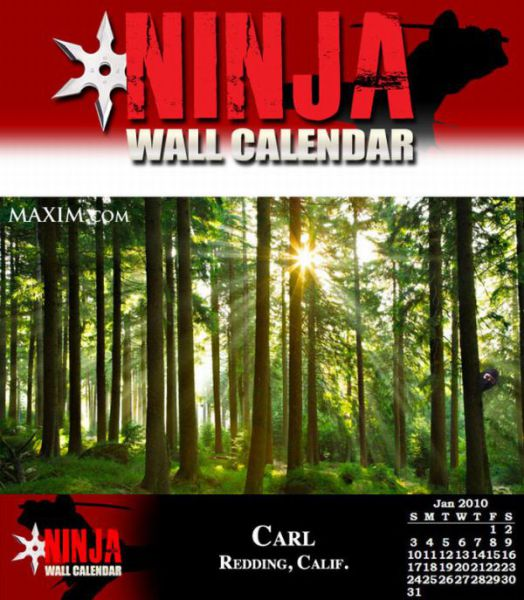 Wall Calendars Made by Ninjas (12 pics)