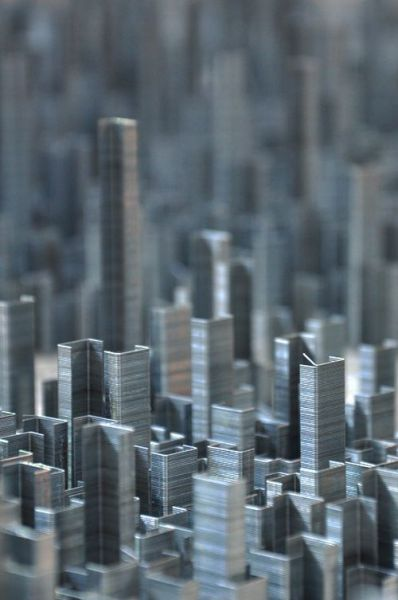 Ephemicropolis Is a Metropolis Made from Metal Staples Stacks (9 pics)